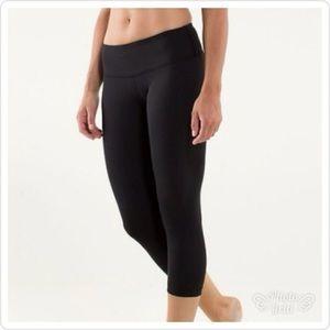 NWOT Lululemon Fitted Skinny Crop Leggings Capri